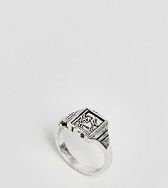 Кольцо-печатка в винтажном стиле ASOS DESIGN Curve - Серебряный