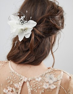Заколка для волос с цветочной отделкой ASOS DESIGN Bridal - Кремовый