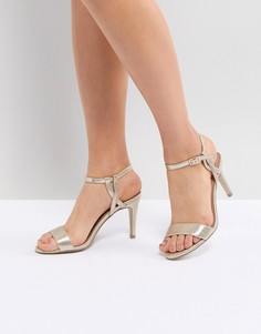 Босоножки на каблуке с ремешком New Look - Золотой