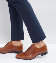 Светло-коричневые кожаные оксфордские туфли для широкой стопы ASOS - Рыжий