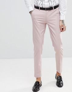 Розовые зауженные брюки под смокинг ASOS - Розовый