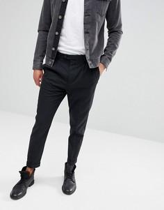 Темно-серые укороченные узкие брюки AllSaints - Серый