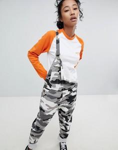 Oversize-футболка с контрастными рукавами реглан Dickies - Оранжевый