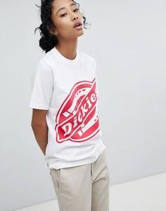 Oversize-футболка с большим логотипом Dickies - Белый