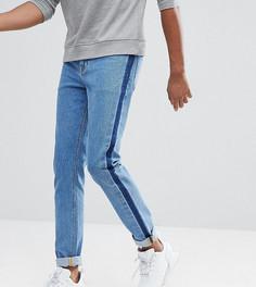 Синие джинсы скинни с полосками по бокам ASOS TALL - Синий