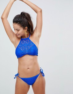 Ажурные плавки бикини с завязками по бокам New Look - Синий