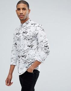Рубашка с принтом Tom Tailor - Белый