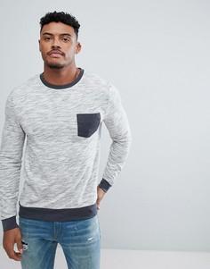 Облегающий свитшот с контрастным карманом ASOS - Серый
