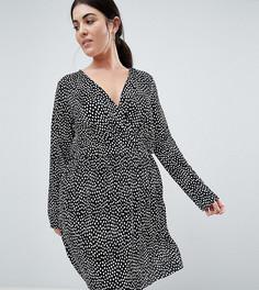 Платье в горошек с запахом ASOS DESIGN Curve - Мульти