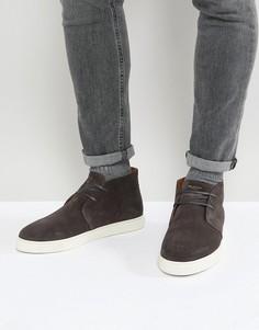 Замшевые кроссовки Selected Homme - Серый