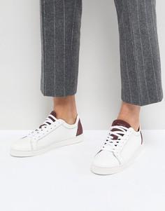 Кроссовки с замшевой вставкой на заднике Selected Homme Premium - Белый