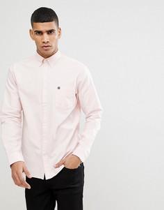 Оксфордская рубашка классического кроя с воротником на пуговицах Selected Homme - Розовый