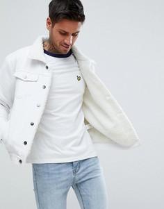 Белая джинсовая куртка с подкладкой из искусственного меха boohooMAN - Белый