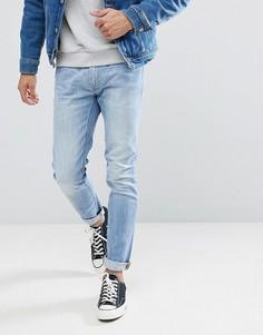 Светлые джинсы скинни Lee Luke - Синий
