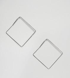 Серебряные серьги-кольца квадратной формы Kingsley Ryan - Серебряный