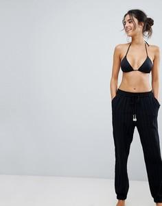 Пляжные брюки из ткани добби Seafolly - Черный
