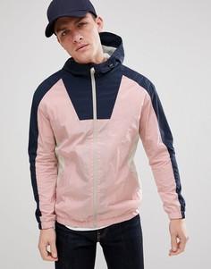 Ветровка в стиле колор блок Jack & Jones Originals - Розовый