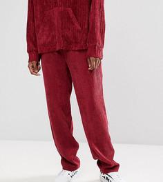 Бордовые вельветовые брюки Reclaimed Vintage Inspired - Красный
