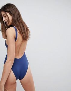 Слитный купальник с открытой спиной Vitamin A - Темно-синий