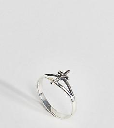 Серебряное кольцо в винтажном стиле с крестом ASOS DESIGN - Серебряный