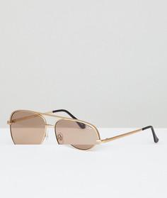 Золотистые матовые солнцезащитные очки-авиаторы Quay Australia X Desi Sahara - Золотой