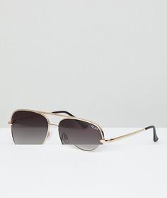 Солнцезащитные очки-авиаторы с золотистой оправой Quay Australia X Desi Sahara - Золотой
