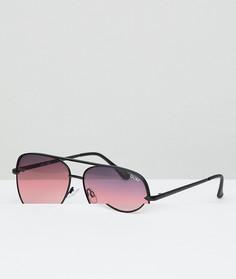 Черные матовые солнцезащитные очки-авиаторы Quay Australia X Desi Sahara - Черный