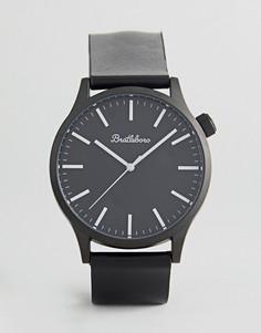 Черные часы с кожаным ремешком Bratleboro Yellowstone 44 мм - Черный