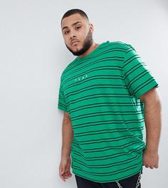 Зеленая футболка в полоску Puma PLUS эксклюзивно для ASOS - Зеленый