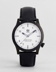 Часы с черным кожаным ремешком Adidas Z06 Cypher - Черный