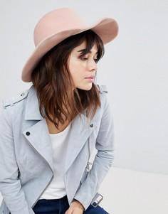 Розовая мягкая фетровая шляпа Glamorous - Розовый