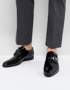 Черные лакированные монки Zign - Черный