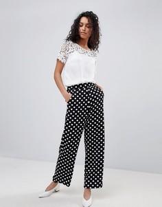 Широкие брюки Y.A.S - Черный