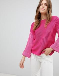 Трикотажный джемпер колор блок Esprit - Розовый