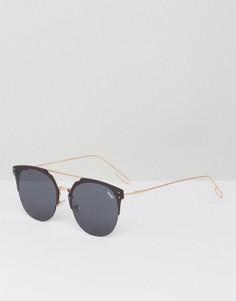 Черные солнцезащитные очки кошачий глаз YHF Jet Set - Черный