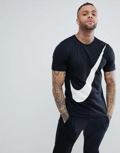 Черная футболка с большим логотипом Nike Hybrid 891871-010 - Черный