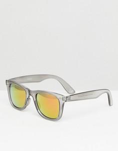 Солнцезащитные очки в черной квадратной оправе с красными стеклами ASOS - Черный