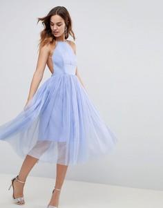 Платье мини ASOS PREMIUM - Синий