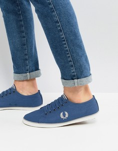 Синие саржевые кеды Fred Perry Kingston - Синий