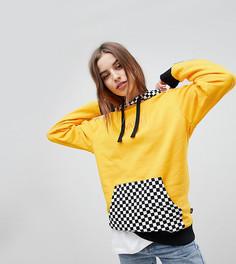 Худи с шахматным принтом эксклюзивно от Vans - Желтый