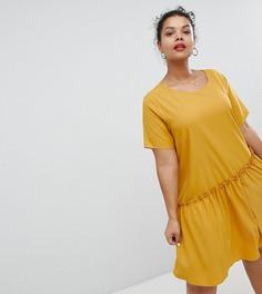 Свободное платье с асимметричным краем Glamorous Curve - Желтый