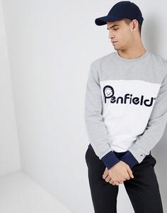 Свитшот с круглым вырезом и логотипом Penfield - Серый