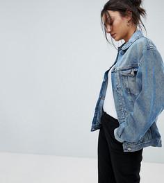 Джинсовая выбеленная куртка ASOS DESIGN Tall - Синий