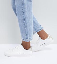 Кроссовки для широкой стопы на шнуровке ASOS DESIGN - Белый
