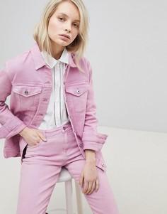 Джинсовая оversize-куртка Only - Розовый
