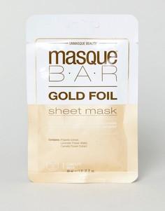 Золотистая маска-салфетка с успокаивающим эффектом MasqueBAR - Золотой