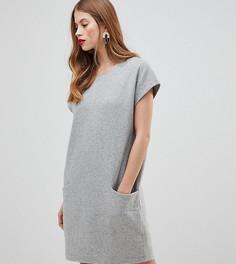 Шерстяное платье с большими карманами Y.A.S - Серый