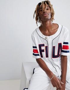 Белая сетчатая футболка Fila Black Line - Белый
