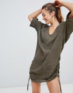 Фактурная пляжная рубашка Seafolly - Зеленый