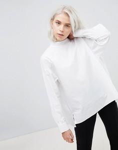 Рубашка с высоким воротом Weekday - Белый